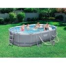 """Bestway Power Steel Oval Pool 16ft x 10ft x 42"""" deep INSTORE PURCHASE ONLY"""