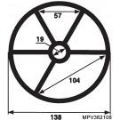 Hayward MPV Spider Gasket - 1.5 inch